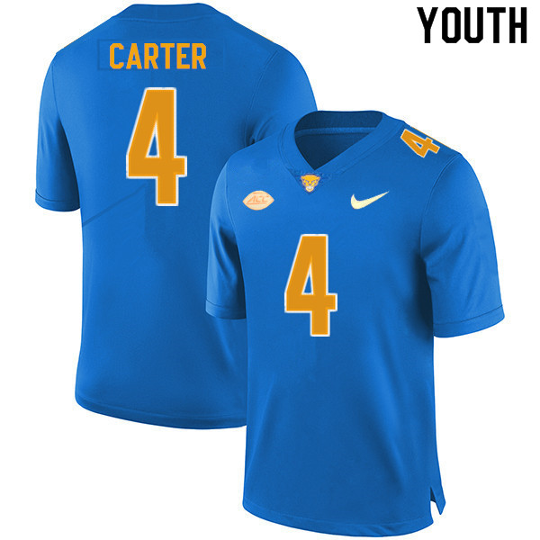 Youth #4 Daniel Carter Pitt Panthers College Football Jerseys Sale-New Royal
