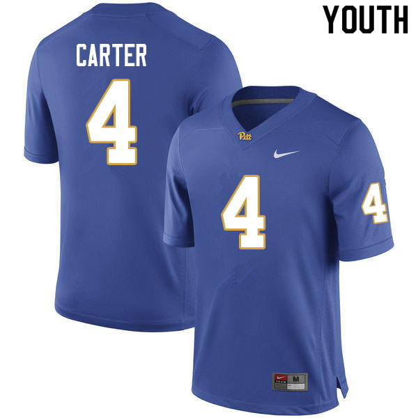 Youth #4 Daniel Carter Pitt Panthers College Football Jerseys Sale-Royal