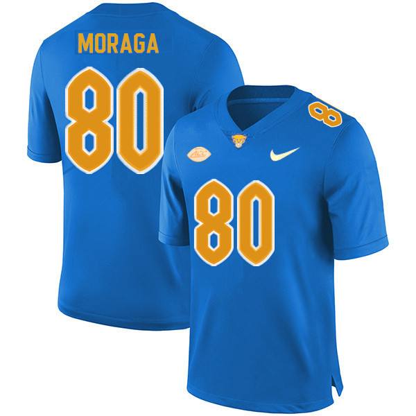 Youth #80 Daniel Moraga Pitt Panthers College Football Jerseys Sale-Royal
