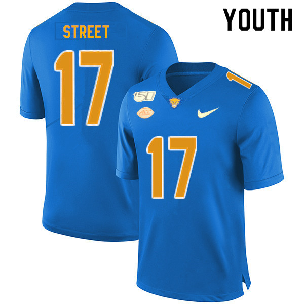 2019 Youth #17 Darian Street Pitt Panthers College Football Jerseys Sale-Royal