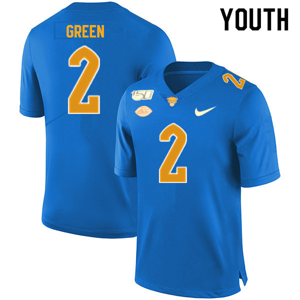 2019 Youth #2 David Green Pitt Panthers College Football Jerseys Sale-Royal