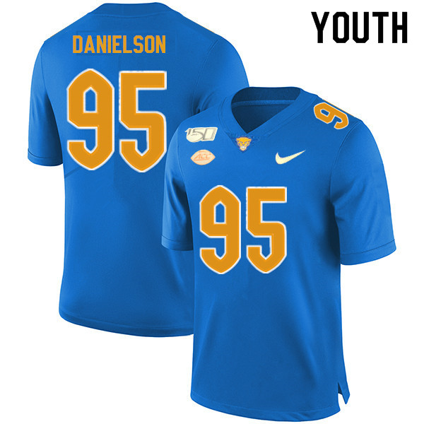 2019 Youth #95 Devin Danielson Pitt Panthers College Football Jerseys Sale-Royal