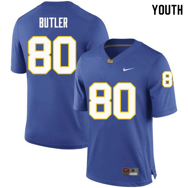 Youth #80 Dontavius Butler Pittsburgh Panthers College Football Jerseys Sale-Royal