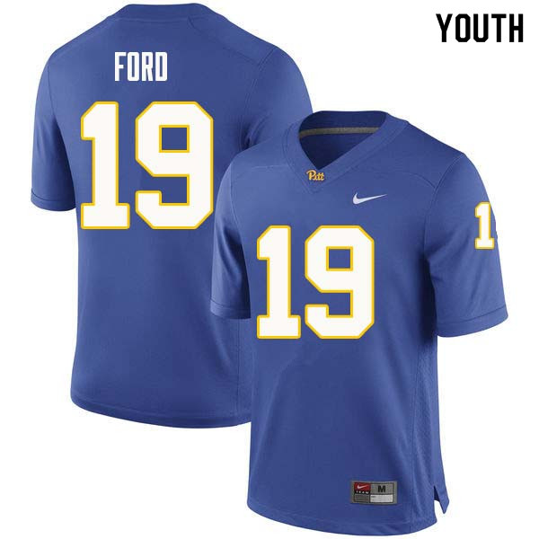 Youth #19 Dontez Ford Pittsburgh Panthers College Football Jerseys Sale-Royal