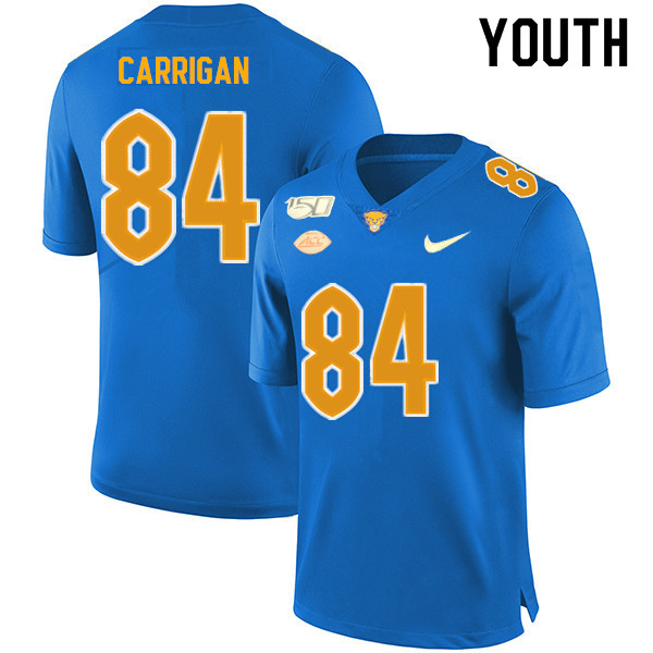 2019 Youth #84 Grant Carrigan Pitt Panthers College Football Jerseys Sale-Royal
