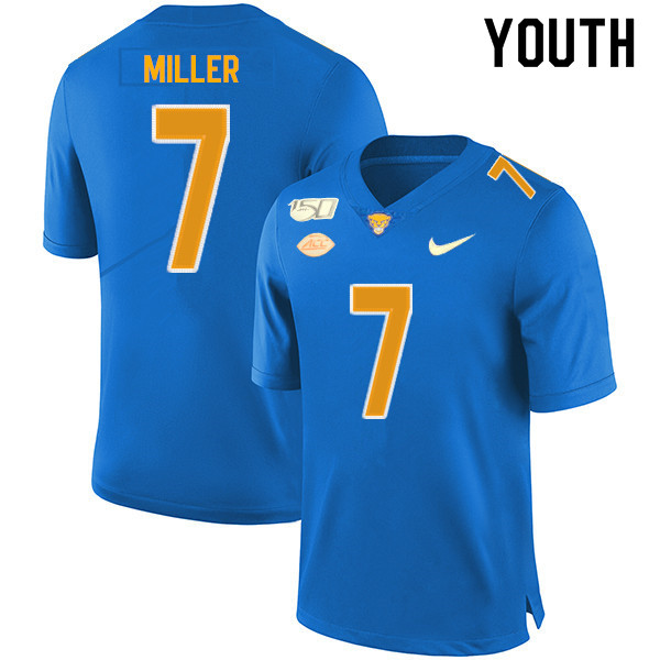 2019 Youth #7 Henry Miller Pitt Panthers College Football Jerseys Sale-Royal