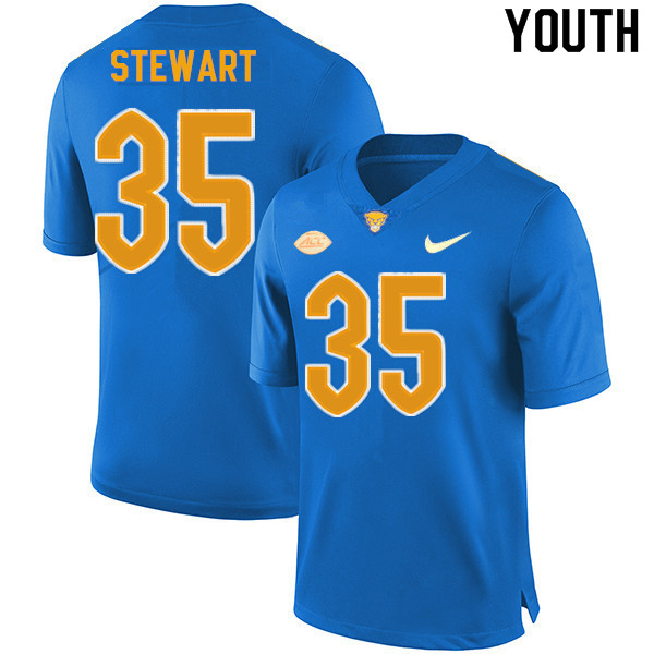 Youth #35 Isaiah Stewart Pitt Panthers College Football Jerseys Sale-New Royal