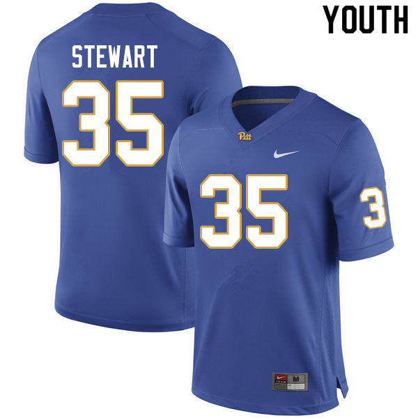 Youth #35 Isaiah Stewart Pitt Panthers College Football Jerseys Sale-Royal