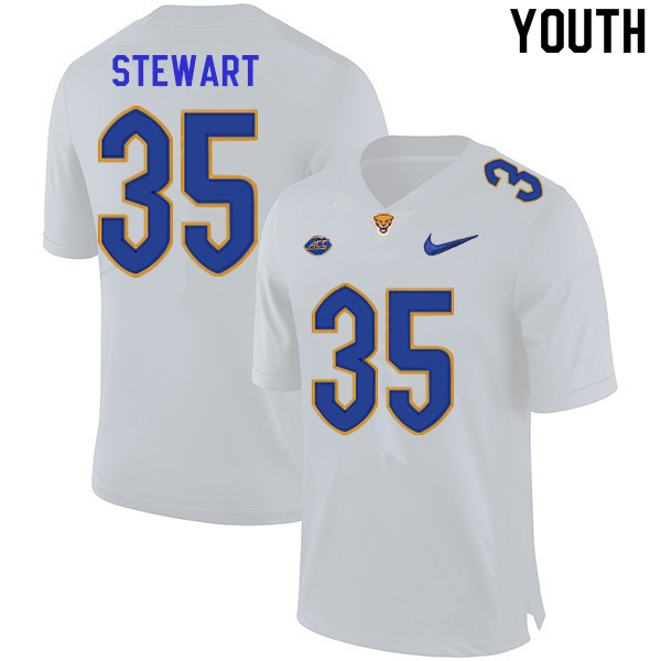 Youth #35 Isaiah Stewart Pitt Panthers College Football Jerseys Sale-White