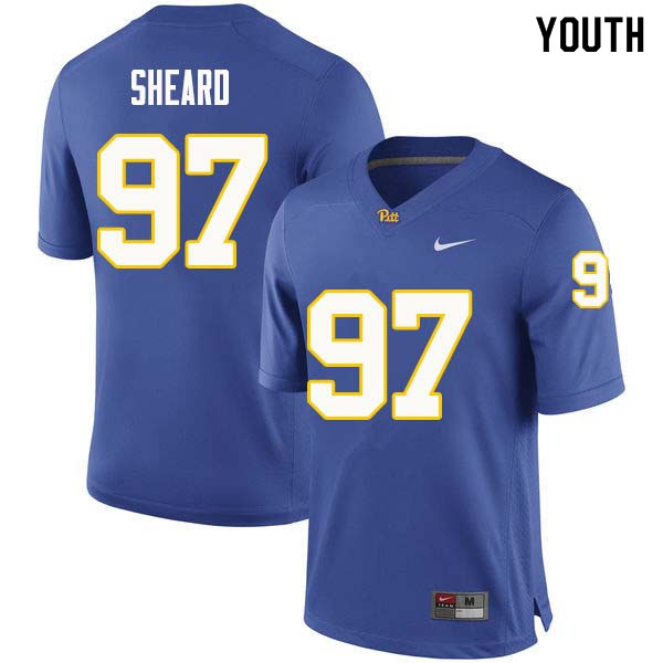 Youth #97 Jabaal Sheard Pittsburgh Panthers College Football Jerseys Sale-Royal
