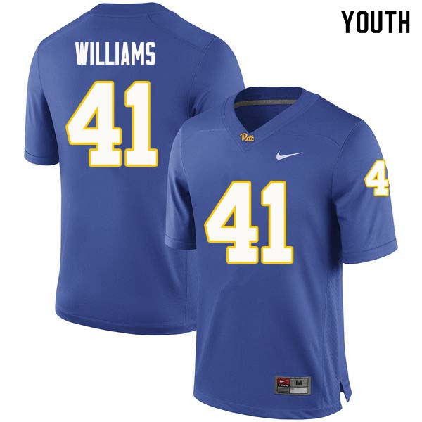 Youth #41 Jalen Williams Pittsburgh Panthers College Football Jerseys Sale-Royal