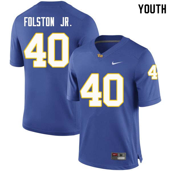 Youth #40 James Folston Jr. Pittsburgh Panthers College Football Jerseys Sale-Royal