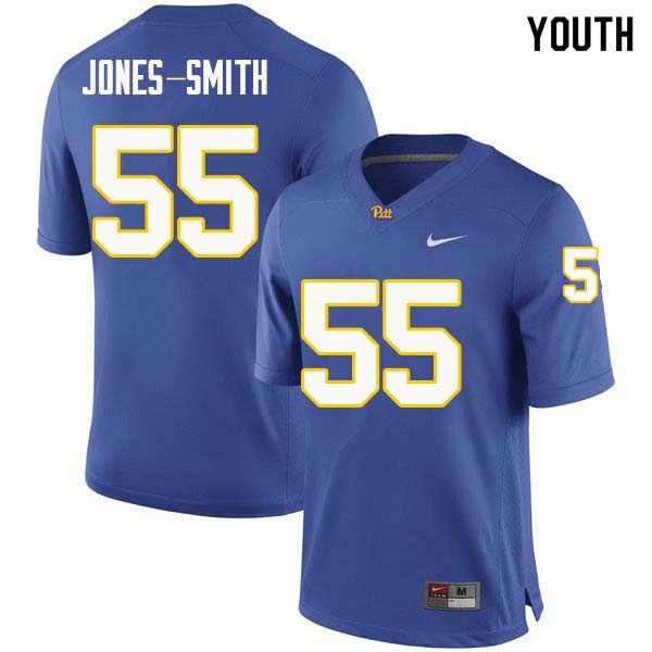 Youth #55 Jaryd Jones-Smith Pittsburgh Panthers College Football Jerseys Sale-Royal