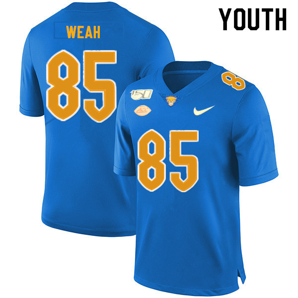 2019 Youth #85 Jester Weah Pitt Panthers College Football Jerseys Sale-Royal