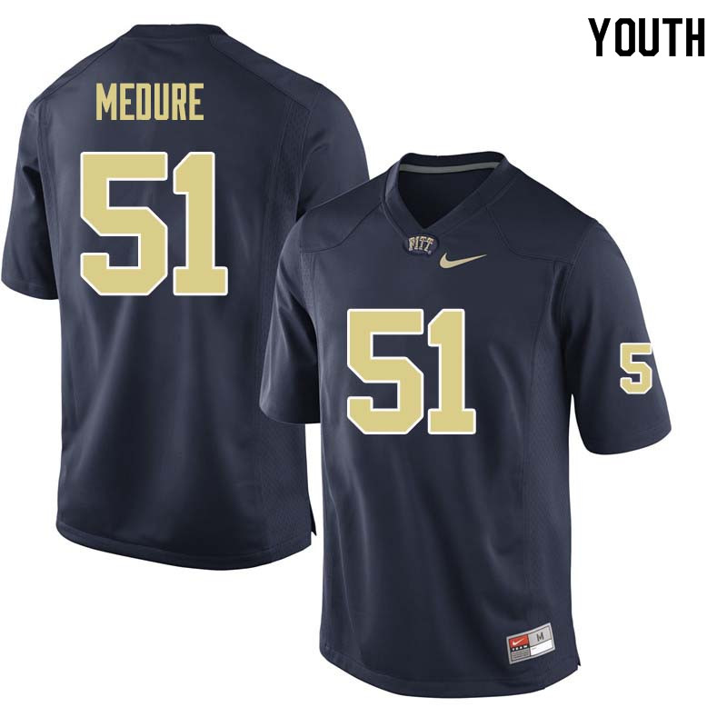 Youth #51 Jim Medure Pittsburgh Panthers College Football Jerseys Sale-Navy