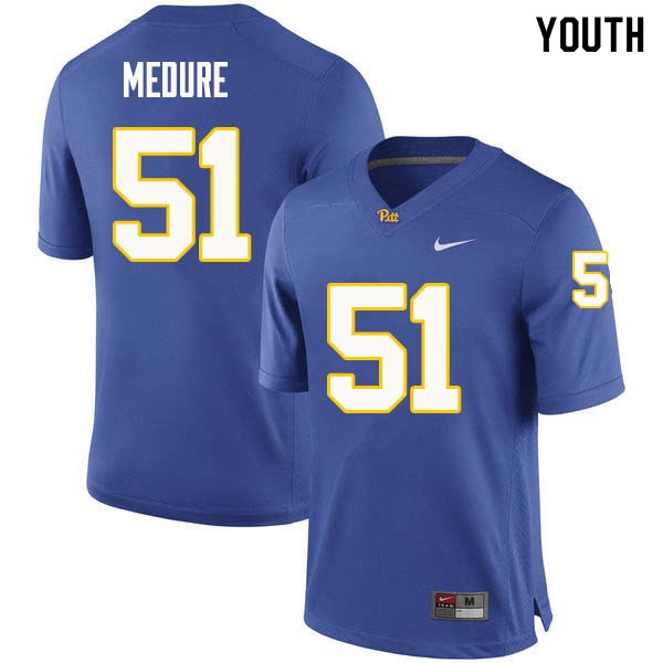 Youth #51 Jim Medure Pittsburgh Panthers College Football Jerseys Sale-Royal