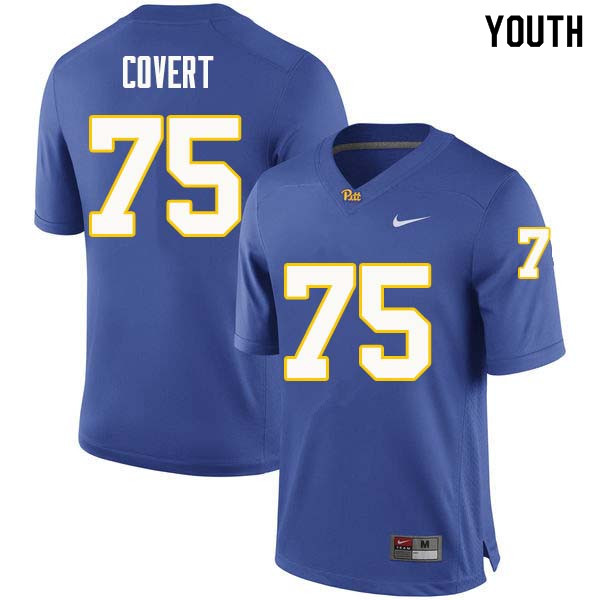 Youth #75 Jimbo Covert Pittsburgh Panthers College Football Jerseys Sale-Royal