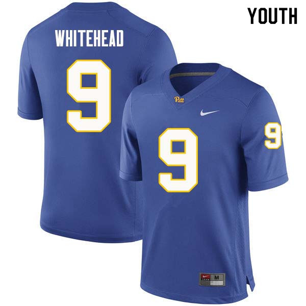 Youth #9 Jordan Whitehead Pittsburgh Panthers College Football Jerseys Sale-Royal
