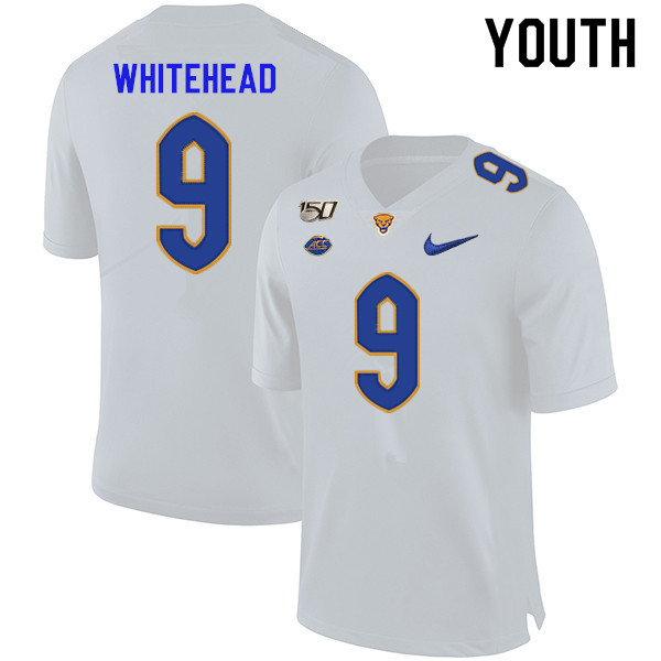 2019 Youth #9 Jordan Whitehead Pitt Panthers College Football Jerseys Sale-White