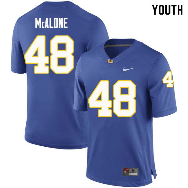 Youth #48 Kellen McAlone Pittsburgh Panthers College Football Jerseys Sale-Royal