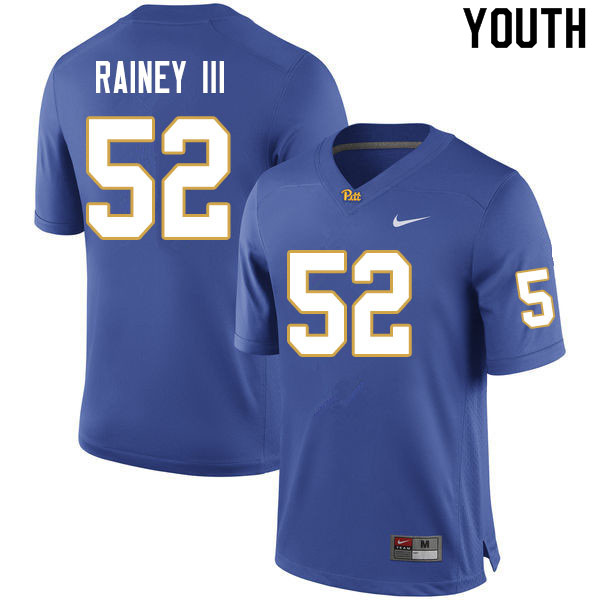 2019 Youth #69 Kenny Rainey III Pitt Panthers College Football Jerseys Sale-Royal