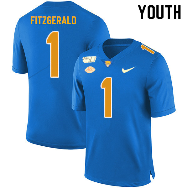 2019 Youth #1 Larry Fitzgerald Pitt Panthers College Football Jerseys Sale-Royal