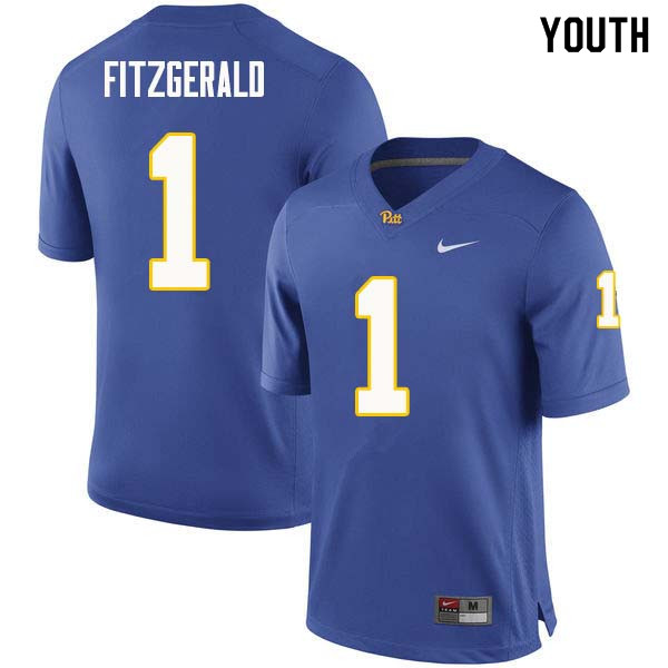 Youth #1 Larry Fitzgerald Pittsburgh Panthers College Football Jerseys Sale-Royal