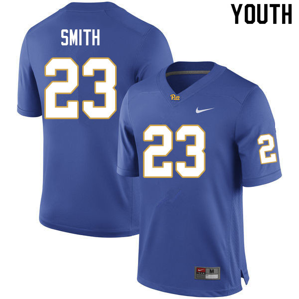 Youth #23 Leslie Smith Pitt Panthers College Football Jerseys Sale-Royal