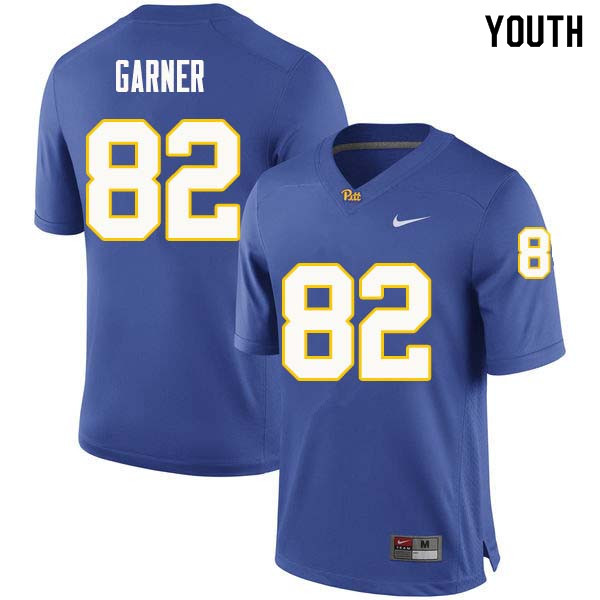 Youth #82 Manasseh Garner Pittsburgh Panthers College Football Jerseys Sale-Royal