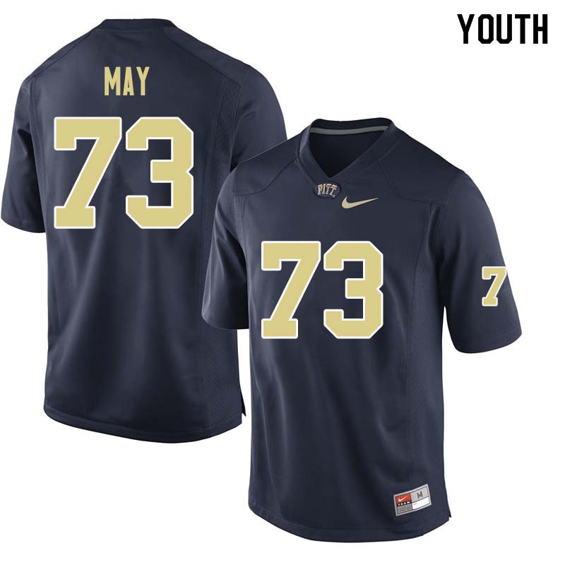 Youth #73 Mark May Pittsburgh Panthers College Football Jerseys Sale-Navy