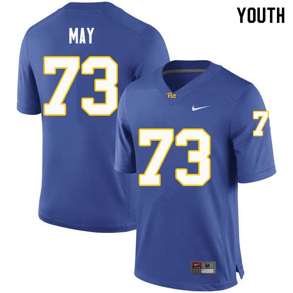 Youth #73 Mark May Pittsburgh Panthers College Football Jerseys Sale-Royal
