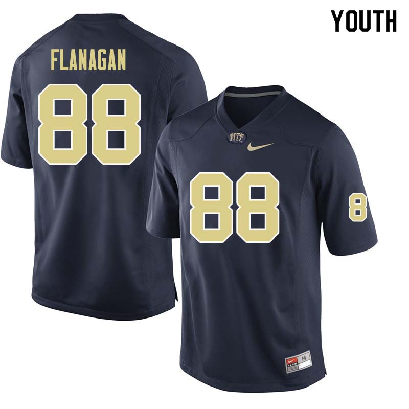 Youth #88 Matt Flanagan Pittsburgh Panthers College Football Jerseys Sale-Navy