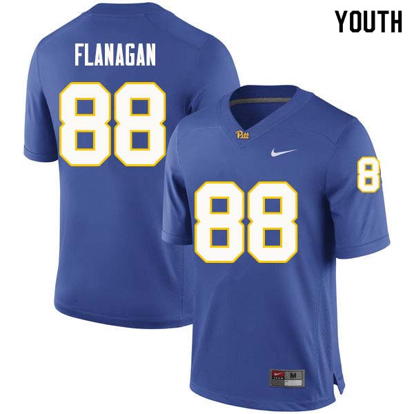 Youth #88 Matt Flanagan Pittsburgh Panthers College Football Jerseys Sale-Royal