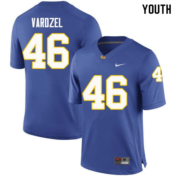 Youth #46 Michael Vardzel Pittsburgh Panthers College Football Jerseys Sale-Royal