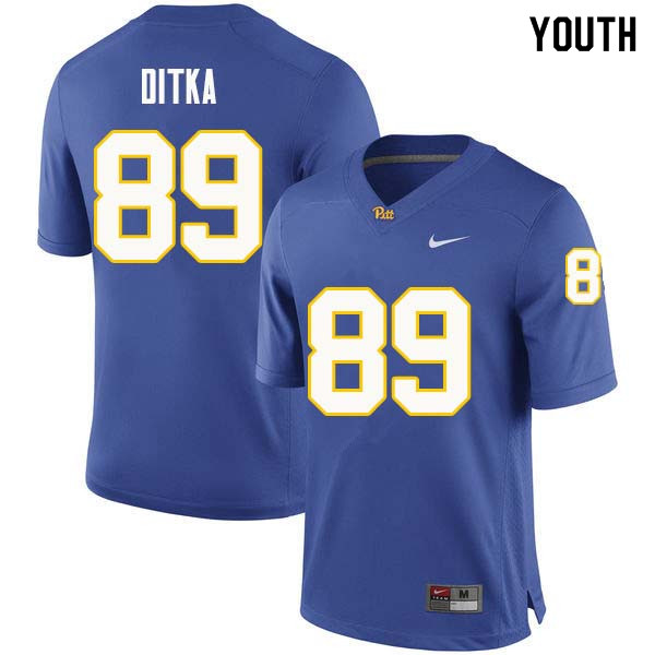 Youth #89 Mike Ditka Pittsburgh Panthers College Football Jerseys Sale-Royal