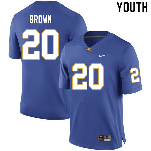 Youth #20 Paris Brown Pitt Panthers College Football Jerseys Sale-Royal