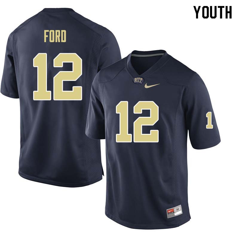 Youth #12 Paris Ford Pittsburgh Panthers College Football Jerseys Sale-Navy