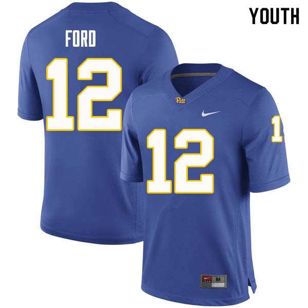 Youth #12 Paris Ford Pittsburgh Panthers College Football Jerseys Sale-Royal