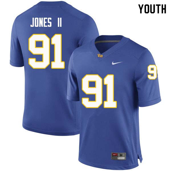 Youth #91 Patrick Jones II Pittsburgh Panthers College Football Jerseys Sale-Royal