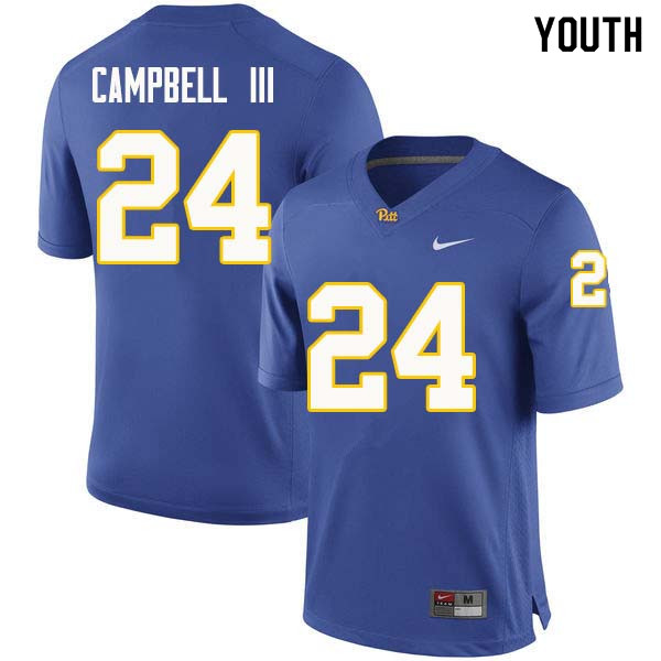 Youth #24 Phil Campbell III Pittsburgh Panthers College Football Jerseys Sale-Royal