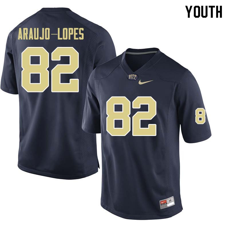 Youth #82 Rafael Araujo-Lopes Pittsburgh Panthers College Football Jerseys Sale-Navy
