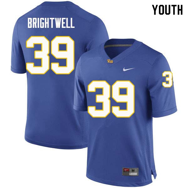 Youth #39 Saleem Brightwell Pittsburgh Panthers College Football Jerseys Sale-Royal