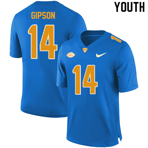 Youth #14 Will Gipson Pitt Panthers College Football Jerseys Sale-New Royal